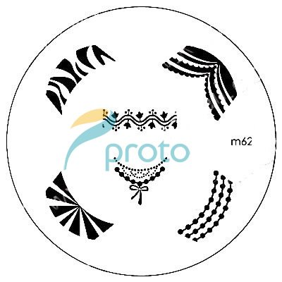 62 french nail image plate