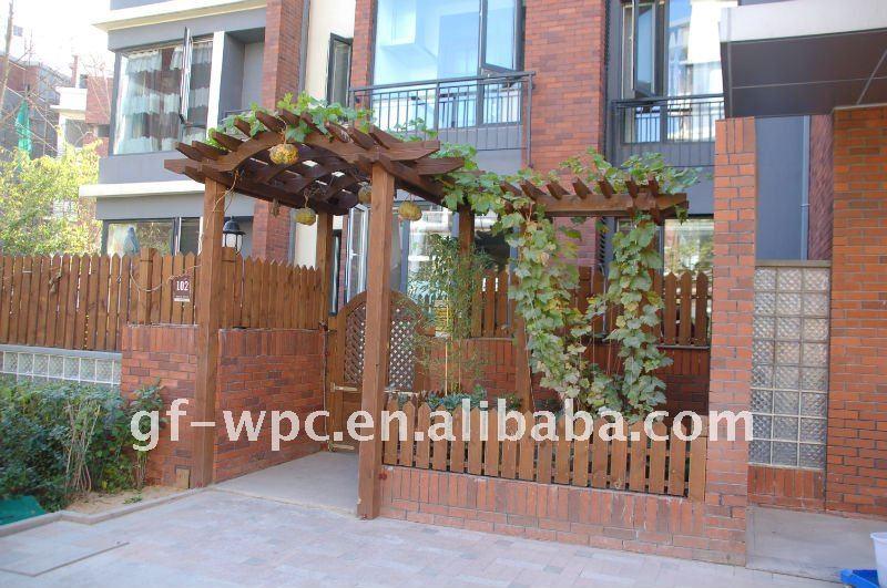 Pergolas wpc pergola garden decoration wood plastic - Pergolas para jardines ...