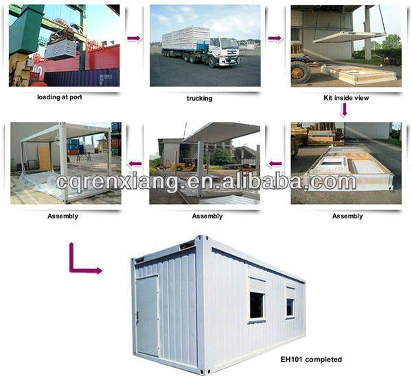 RX High Insulation Residential Modular Prefab Apartment Container Design