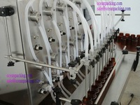 Упаковочная линия semi automatic liquid filling machine with 10 heads