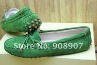 Женская обувь на плоской подошве THREE colors, Ladies leather casual flat heel shoes, ladies leather loafers
