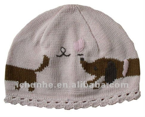 100%cotton lovely & fashion knitted cute animal hats made by hand