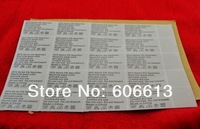 Ярлыки для одежды Fabric Clothing Self-adhesive Garment Labels, Scarf sticky Care Labels, 2000pcs/lot