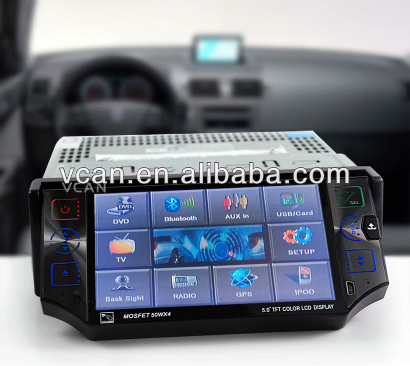 5.0'' car gps navigation for kia k2 Touch screen DVD USB SD GPS-556