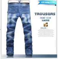 Мужские джинсы 2013 mens jeans brands, light blue color jeans for men, fashion men trousers size 28, 29, 30, 31, 32, 33