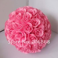 Сооружения для сада 30cm*10 pcs Rose kissing ball artificial silk flower wedding decoration Ivory/cream color