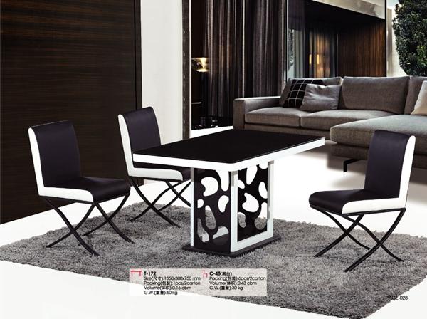 Moderno diseño hueco vidrio casa muebles juego three-piece mesa ...