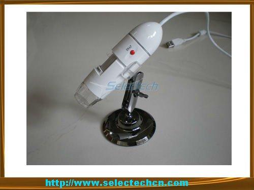 Digital USB Microscope 1.3 Mega Pixel With Measurement Software And 8 LED Lights