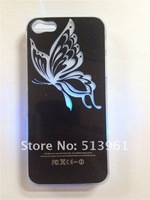 Free Shipping Colorful Change logo Battery Sense Flash LED light Cover Case for iPhone 5   Styles New   10pcs