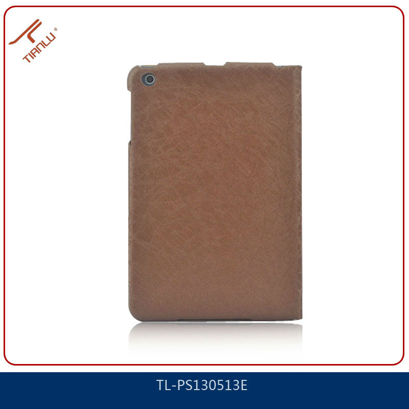 Factory wholesale stand leather case for ipad mini,various colors