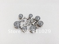 2012 New Hot body jewelry 16pcs leopard logo printed ear tunnel stainless steel screw on Flesh Tunnel free shipping
