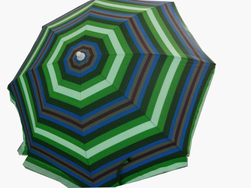 high quality advertising stripe fabric beach umbrella