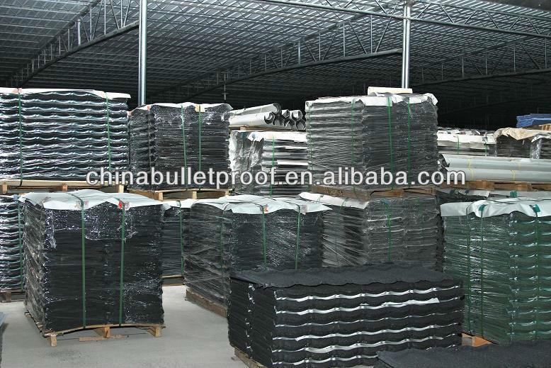 Aluminium stone granule coated steel roof shingle