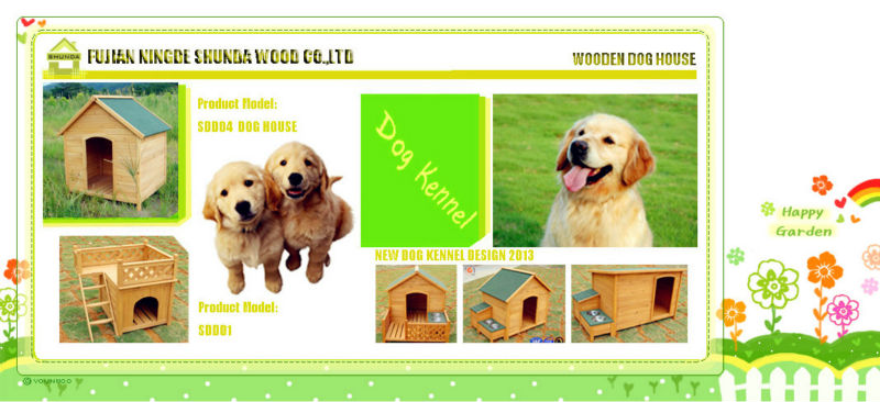 SDD08 Promotional Colourful Wooden dog house / dog kennel