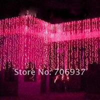 110V-220V Hot Sales 3* 6meters/strip,free shipping/Christmas Led Light Strips/38 Led lights/waterfall Christmas led lights