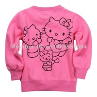 Футболка для девочки Hot 6pcs/lot Kids boys girls hello kitty t shirt/hoodies, baby girls HK Sweatshirts/hoody, kids outerwear/sweater