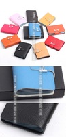 Free shipping card/ID holder /cb001/Genuine leather retail or wholesale