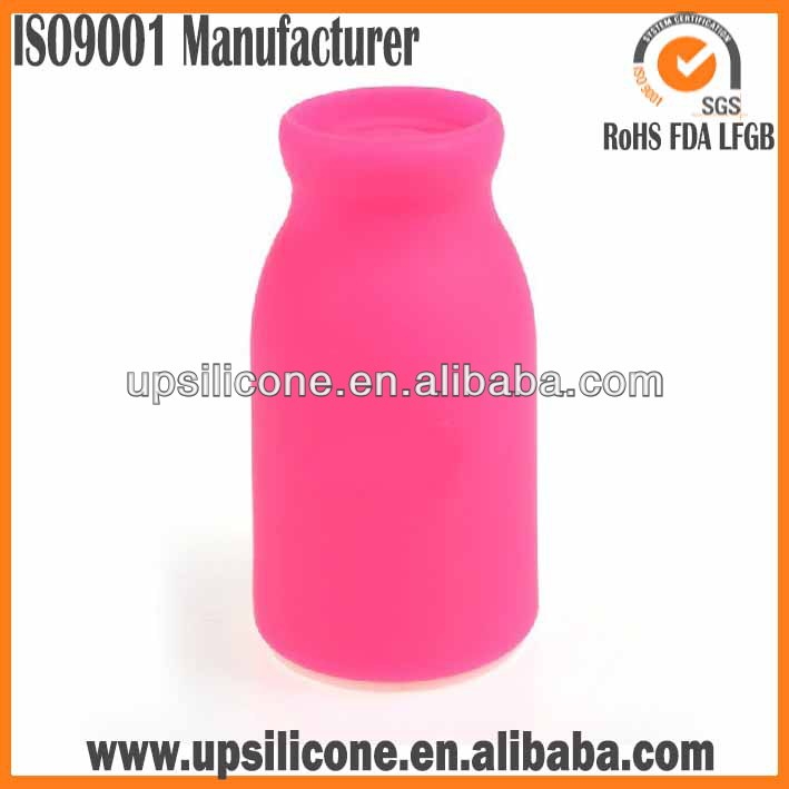 Food grade soft silicone car air freshener bottle