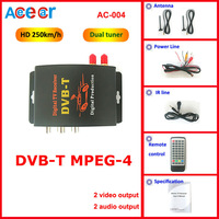 Специализированный магазин Car digital tv tuner Receiver of MPEG4 Compatible with SD MPEG2 and DVB-T HD MPEG4 perfectly with dual tuner and 2 video output