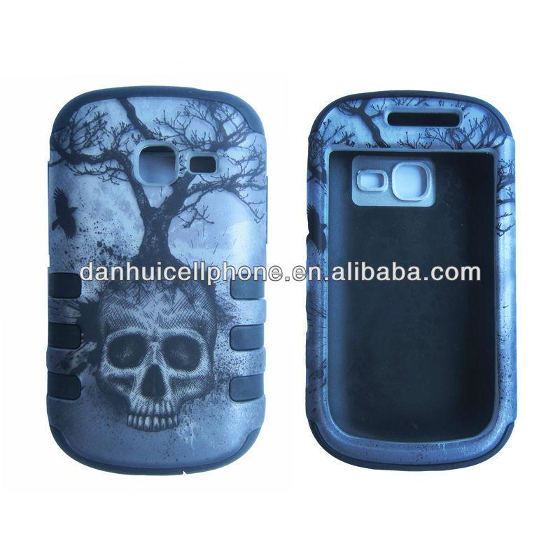 hybrid case for Samsung Galaxy discover S730G skull tree design case
