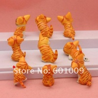Фигурка героя мультфильма 9 pcs Cartoon Chi's Sweet Home Cute Yellow Cat Figures Animal and Retail