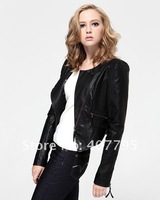 Натуральная кожа retail, Sun Slim black female models female short leather F110
