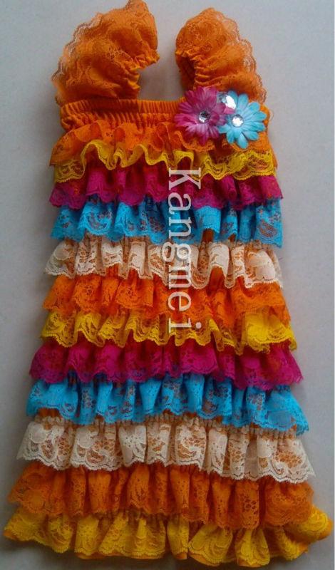 2013 Baby Petti Dress Printed Birthday Newborn Infant Toddler