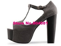 Туфли на высоком каблуке SARMIT- Best selling item Ladies' Fashion Buckle Strap Platform Chunk High Heel Sandal Shoes