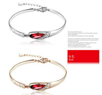 2013 Fashion New design Silicone Bracelet with new mental clasp crystal