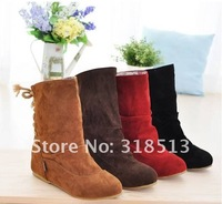 Женские ботинки HOT! Spring autumn, fashion leisure women's short boots black, brown, red, yellow 34-43 knight boots