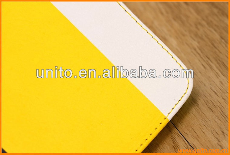 colorful wallet leather case cover, for ipad air leather case