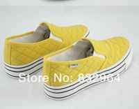 Ms. 2013 new Korean version of a pedal set foot thick crust increased casual canvas shoes free shipping