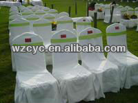 Stain Fabric Chair Sash For Wedding And Banquet