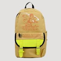 Детали и Аксессуары для сумок Attack On Titan Anime Mikasa Double Buckle Yellow Backpack
