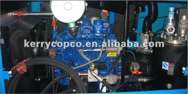 200cfm portable compressor for hydraulic rig