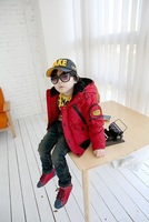 Детская одежда для мальчиков Fashion Boy Clothing Goggle Warm Winter Coat Blue Red Childeren Age 3 7 Yeas 1