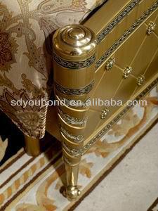 0016 2014 European Luxury classic bedroom wood furniture