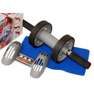 Double ab wheel power stretch roller slide small abdominal fitness exercise equipment