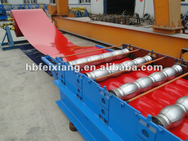 automatic cold steel roll forming machine/ color steel metal roofing tiles roll forming machine