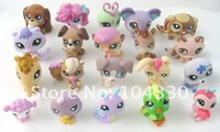 Детский набор для моделиррования Fee shipping, new arrive, Hot sale ~10pcs/lots Littlest Pet Shop Animals Loose Figures Collection Toy 10 styles
