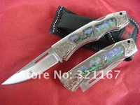 Wolf Small Floding Blade Knife 440C 56HRC Copied Awabi Knife 267 Hunting Caming Knife