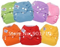 Free shipping Baby diaper clothes 5 PCS Reusable Size Adjustable Baby Cloth Diaper Nappy +10 insert