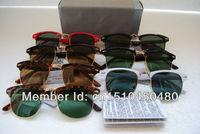 3016 clubmaster солнцезащитные очки женщин мужские очки с оригинальной коробке