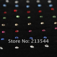 Free shipping Nose Piercing Stud CZ Nose Ring Colorful Nose Stud Jewelry Body Piercing Jewelry 8 Color Mix BJ063