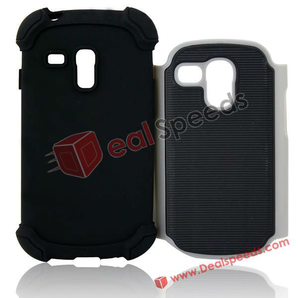 Protective Back Skin Case for Galaxy S3 Mini i8190(Grey)