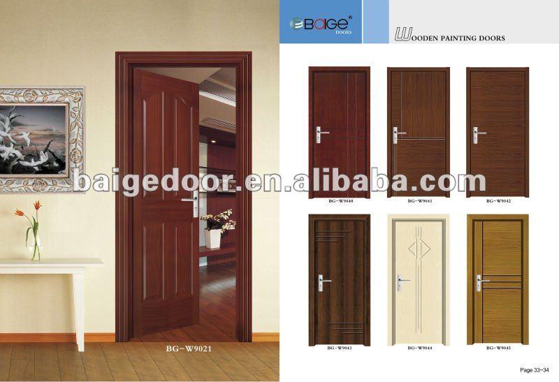Bg W9023 Populaire Moderne Chambre Porte Conception Mdf