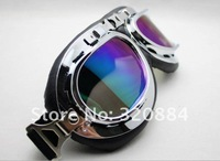 In stock 2013 new 2013 new  Aviator Pilot Cruiser Motorcycle Scooter ATV Goggle Eyewear T01A Silver Lens