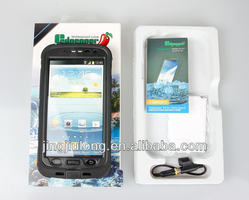 Wholesale - hot style redpepper waterproof phone case for Samsung Galaxy Note 2 II N7100