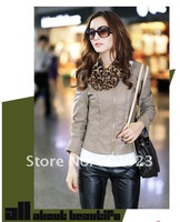 Free shipping New Arrival 2012 Fashion Style Women's Leather Jacket Pu Coat outwear Y3594