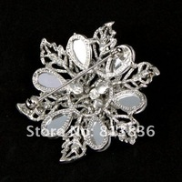 Брошь 6pcs/lot 2013 Crystal Rose Brooch P168-338